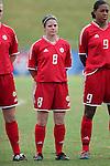 Diana Matheson, of Canada, on Sunday June 26th, 2005, during an international friendly soccer match at Virginia Beach Sportsplex in Virginia Beach, Virginia. The United States won the game 2-0.