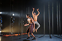 Choreographer, Shobana Jeyasingh, presents MATERIAL MEN, starring bharathanatyam dancer Sooraj Subramaniam and hip-hop dancer, Shailesh Bahoran, as part of a double bill with 'Strange Blooms', in the Queen Elizabeth Hall, Southbank Centre. Picture shows: Sooraj Subramaniam, Shailesh Bahoran.