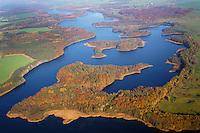 Biosphaerenreservat Schaalsee:EUROPA, DEUTSCHLAND,  MECKLENBURG VORPOMMERN, SCHLESWIG HOLSTEIN 09.11.2014:<br /> Im Jahre 2000 wurde die mecklenburger Schaalseelandschaft durch die UNESCO als Internationales Biosphaerenreservat  ausgewiesen. Blickrichtung von Suedwest nach Nordost.