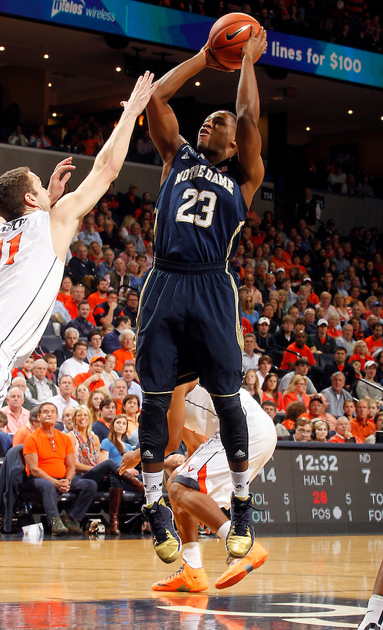 Notre Dame guard Demetrius Jackson (23) during the game Saturday, February 22, 2014,  in Charlottesville, VA. Virginia won 70-49.