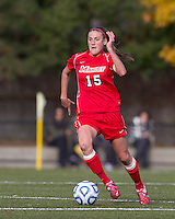 Marist College defender Chelsea Botta (15) brings the ball forward. Boston College defeated Marist College, 6-1, in NCAA tournament play at Newton Campus Field, November 13, 2011.