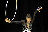 Olympic Test Event  Gymnastics. O2 Arena London England. 18.1.12. Rhythmic Competition. Federica.FEBBO of Italy in action.