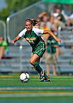 26 August 2012: University of Vermont Catamount defender Haleigh Gill in action against the Fairfield University Stags at Virtue Field in Burlington, Vermont. The Stags defeated the Lady Cats 1-0. Mandatory Credit: Ed Wolfstein Photo