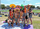 15.02.2015. Hamilton, New Zealand.  Cricket fans ahead of the ICC Cricket World Cup match - South Africa versus Zimbabwe at Seddon Park, Hamilton, New Zealand on Sunday 15 February 2015.