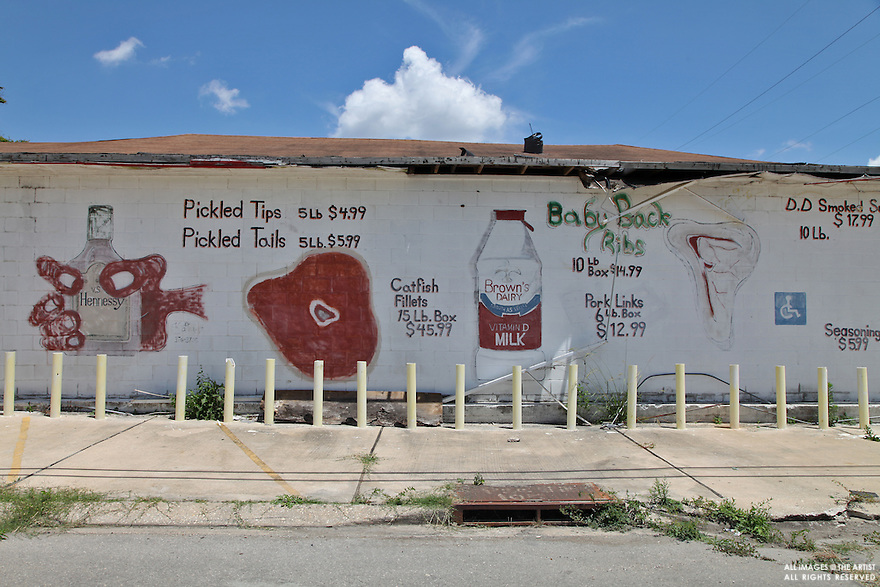 Ruined food shop in the 9th Ward still standing but unrepaired, four years after Katrina. The city is far from fully recovered.