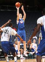Cody Zeller at the NBPA Top100 camp June 18, 2010 at the John Paul Jones Arena in Charlottesville, VA. Visit www.nbpatop100.blogspot.com for more photos. (Photo © Andrew Shurtleff)
