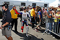 July 24, 2010 - Laguna Seca, USA - Fiat-Yamaha team's Spanish rider, Jorge Lorenzo, waves to fans and spectators as he heads to the track prior to the U.S. Grand Prix held on July 25, 2010. (Photo Andrew Northcott/Nippon News)