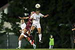 23 October 2014: North Carolina's Paige Nelsen (24) and Florida State's Michaela Hahn (8). The University of North Carolina Tar Heels hosted the Florida State University Seminoles at Fetzer Field in Chapel Hill, NC in a 2014 NCAA Division I Women's Soccer match. The game ended in a 1-1 tie after double overtime.