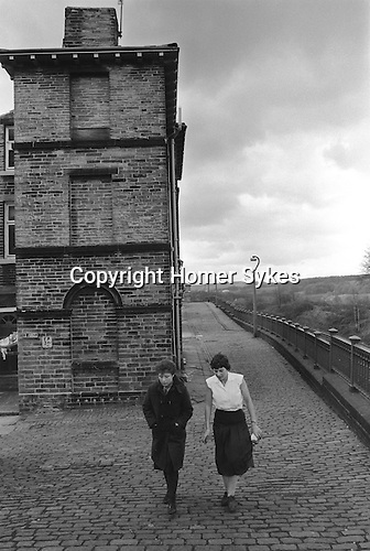 Saltaire near Shipley Bradford West Yorkshire England 1981. Number 1 Albert Terrace. World Heritage Site