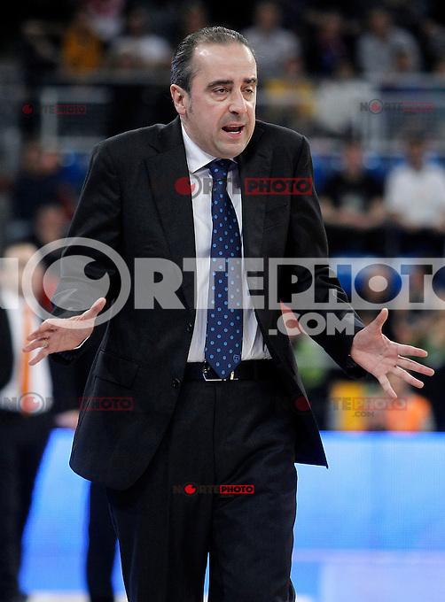 Asefa Estudiantes' coach Txus Vidorreta during Spanish Basketball King's Cup match.February 07,2013. (ALTERPHOTOS/Acero) /NortePhoto