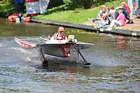 ALGEMEEN: SNEEK: 02-07-2014, DONG Energy Solar Challenge, Sprintwedstrijd, CLAFIS Private Energy Solar Boat Team (#T63), ©foto Martin de Jong