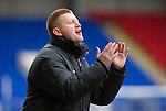 St Johnstone v Kilmarnock.....09.03.13      SPL.Steve Lomas applauds his players.Picture by Graeme Hart..Copyright Perthshire Picture Agency.Tel: 01738 623350  Mobile: 07990 594431