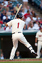 Kosuke Fukudome (Indians),JULY 30, 2011 - MLB :Kosuke Fukudome of the Cleveland Indians at bat during the game against the Kansas City Royals at Progressive Field in Cleveland, Ohio, United States. (Photo by Thomas Anderson/AFLO) (JAPANESE NEWSPAPER OUT)