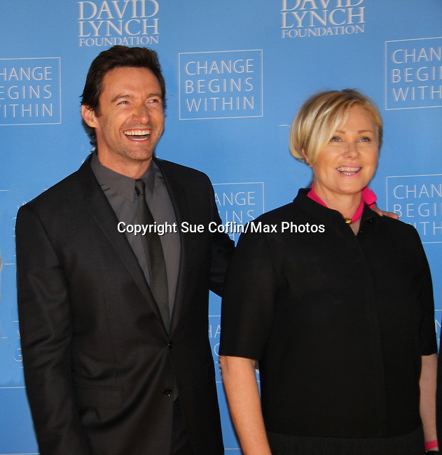 12-03-13 Hugh Jackman, Deborra-Lee Furness honored, David Lynch - Change Begins Within  - NYC