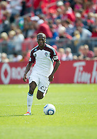 17 September 2011: Colorado Rapids midfielder Sanna Nyassi #23 in action during an MLS game between the Colorado Rapids and the Toronto FC at BMO Field in Toronto, Ontario Canada..Toronto FC won 2-1.