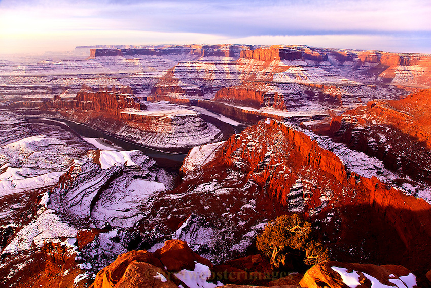 Dead Horse Point and Snow