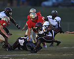 Lafayette High's Eli Johnson (75) vs. Greenwood in Oxford, Miss. on Friday, August 24, 2012. Lafayette won 41-0.
