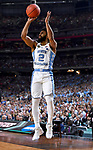 GLENDALE, AZ - APRIL 03: Joel Berry II #2 of the North Carolina Tar Heels shoots a jumper during the 2017 NCAA Men's Final Four National Championship game against the Gonzaga Bulldogs at University of Phoenix Stadium on April 3, 2017 in Glendale, Arizona.  (Photo by Brett Wilhelm/NCAA Photos via Getty Images)