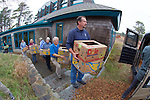 Bob Prescott & Other Volunteers Transporting Stranding Sea Turtles In Boxes, Welfleet Bay Wildlife Sanctuary, Audubon