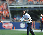 Ole Miss vs. Auburn Coach Gene Chizik  at Vaught-Hemingway Stadium in Oxford, Miss. on Saturday, October 13, 2012. (AP Photo/Oxford Eagle, Bruce Newman)..