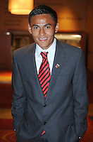 D.C. United midfielder Andy Najar,at the United Kickoff luncheon, at the Marriott hotel in Washington DC, March 5, 2012.