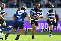 Kane Palma-Newport of Bath Rugby goes on the attack. European Rugby Challenge Cup Semi Final, between Stade Francais and Bath Rugby on April 23, 2017 at the Stade Jean-Bouin in Paris, France. Photo by: Patrick Khachfe / Onside Images
