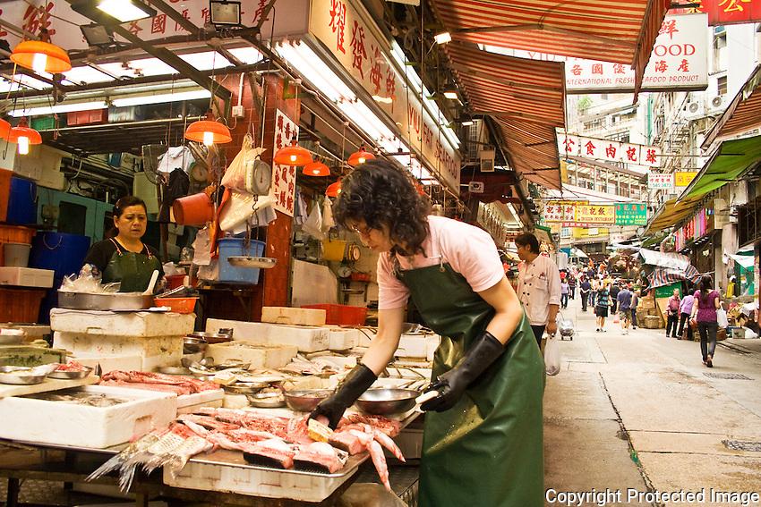 Yiu Fat Seafood in the market maze of Sheung Wan, Hong Kong