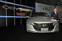 TOKYO - OCTOBER 16: Honda Motor President Takeo Fukui unveiled new models of its minivan Odyssey for the Japanese market. (Photo by Taro Fujimoto/JapanToday/Nippon News)