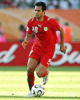 Mohammad Nosrati in action for Iran. Mexico defeated Iran 3-1 during a World Cup Group D match at Franken-Stadion, Nuremberg, Germany on Sunday June 11, 2006.