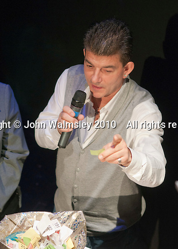 "Special guest, actor, John Altman, ""Nasty Nick"" from TV's ""East Enders"", drawing the raffle.  Special Olympics Surrey put on a show,   ""Beyond the Stars"", at the Rose Theatre, Kingston upon Thames to raise money for the  SOGB team.  The Special Olympics are for athletes with learning disabilities."