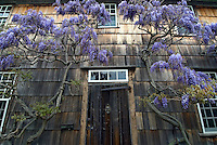 Door, Home Sweet Home, East Hampton, New York, USA. Long Island