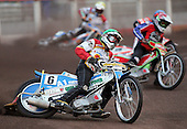 Heat 2 - Moore (green), Kling (red), Mills (blue), Korneliussen (yellow) - Lakeside Hammers vs Swindon Robins - Sky Sports Elite League at Arena Essex, Purfleet - 17/08/07  - MANDATORY CREDIT: Gavin Ellis/TGSPHOTO - SELF-BILLING APPLIES WHERE APPROPRIATE. NO UNPAID USE. TEL: 0845 094 6026..