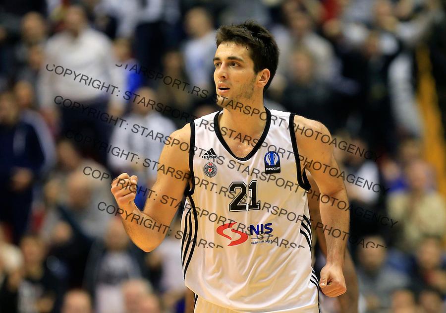 Kosarka EuroCup season 2014-2015<br /> Partizan NIS v Hapoel Jerusalem<br /> Mihajilo Andric <br /> Beograd, 03.11.2014<br /> foto: Srdjan Stevanovic/Starsportphoto &copy;