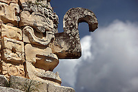 God Chaac sculpture, The Nunnery Quadrangle, East Building, 900-1000 AD, Puuc architecture, Uxmal late classical Mayan site, Yucatan, Mexico Picture by Manuel Cohen