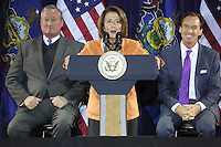 PHILADELPHIA, PA - OCTOBER 31 : House Democratic Leader Nancy Pelosi pictured working to elect Hillary Clinton as the next President of the United States at the Philadelphia Democratic Party's Jefferson-Jackson Autumn Event at the Sheet Metal Workers Hall in Philadelphia, Pa on October 31, 2016  photo credit Star Shooter/MediaPunch