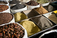 Spices for sale at the Grand Bazaar in Kashgar, Xinjiang, China.