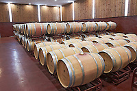 barrel aging cellar bodegas frutos villar , cigales spain castile and leon