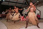 Rakiraki, Viti Levu, Fiji; Traditional Fijian dancers perform