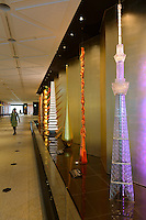 """An Edokiriko """"Super Craft Tree"""" objet on display Tokyo Sky Tree, Tokyo, Japan, January 15, 2015. Edokiriko is a style of cut glass that dates back to 1834 and is similar to British cut glass. It makes use coloured glass and highly-intricate Japanese motifs."""