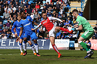 Fleetwood Town's David Ball goes close<br /> <br /> Photographer Rob Newell/CameraSport<br /> <br /> The EFL Sky Bet League One - Gillingham v Fleetwood Town - Saturday 22nd April 2017 - MEMS Priestfield Stadium - Gillingham<br /> <br /> World Copyright &Acirc;&copy; 2017 CameraSport. All rights reserved. 43 Linden Ave. Countesthorpe. Leicester. England. LE8 5PG - Tel: +44 (0) 116 277 4147 - admin@camerasport.com - www.camerasport.com