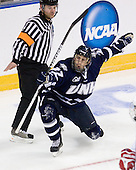 Kevin Goumas (UNH - 27) - The University of New Hampshire Wildcats defeated the Miami University RedHawks 3-1 (EN) in their NCAA Northeast Regional Semi-Final on Saturday, March 26, 2011, at Verizon Wireless Arena in Manchester, New Hampshire.