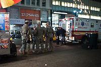 NEW YORK - MANHATTAN 01/01/2013 - CAPODANNO A NEW YORK. NELLA FOTO NUMEROSE FORZE DELL'ORDINE HANNO PRESIDIATO TIME SQUARE.FOTO DILORETO ADAMO