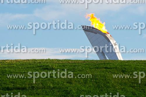 14.02.2014, Olympic Park, Adler, RUS, Sochi, 2014, Feature, im Bild Gruener Rasen vor dem Olympischen Feuer // during the Olympic Winter Games Sochi 2014 at the Olympic Park in Adler, Russia on 2014/02/14. EXPA Pictures &copy; 2014, PhotoCredit: EXPA/ Freshfocus/ Urs Lindt<br /> <br /> *****ATTENTION - for AUT, SLO, CRO, SRB, BIH, MAZ only*****