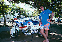 Ross Clarke Jones (AUS) with the 'need for speed'  during a trip to Reunion Island in 1989. Photo: joliphotos.com