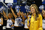 Erin Andrews speaks to the camera at ESPN Game Day at Rupp Arena on Saturday, Feb. 13, 2010 . Photo by Britney McIntosh | Staff