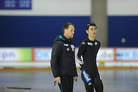 SPEEDSKATING: CALGARY: 13-11-2015, Olympic Oval, ISU World Cup, Johan de Wit (trainer/coach Team JPN),, ©foto Martin de Jong
