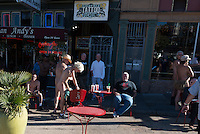 Naked gays on Castro street, San Francisco