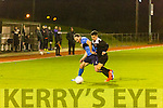 In Action  Dynamos  Danny Roche  and Dingle's Jason Hickson in the Munster Junior Cup S/F Tralee Dynamos v Dingle at Mounthawk Park on Thursday