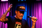 Ben Harper gestures while on stage at The Grammy Museum in in Los Angeles, California, U.S. December 7, 2012 ©Jonathan Alcorn/JTA