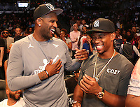 BROOKLYN, NEW YORK - JULY 21, 2016 CC Sabathia & Victor Cruz attend the Roc Nation Summer Classic Charity Basketball Game July 21, 2016 at The Barclays Center in Brooklyn, New York. Photo Credit: Walik Goshorn / Media Punch